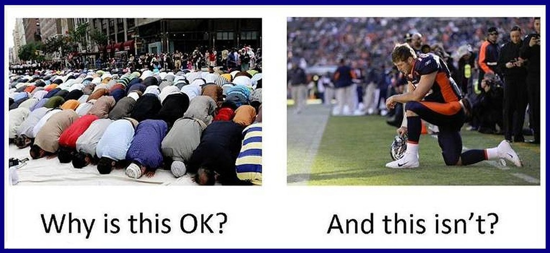 Muslim prayer vs. Christian prayer in public